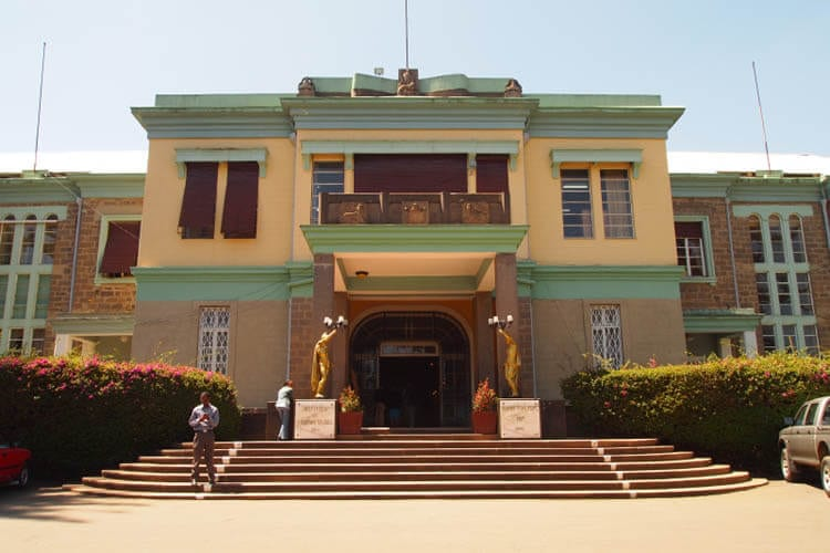 The Ethnological Museum, Addis Ababa, is one of the finest museums in Africa.