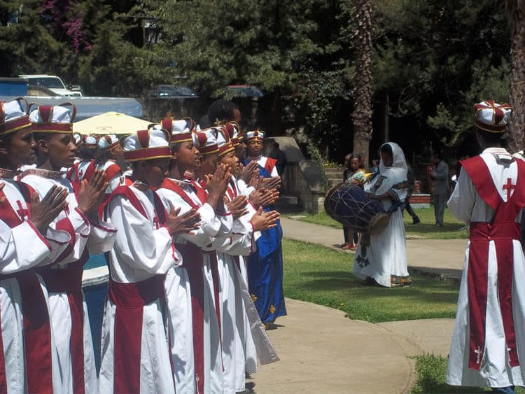The Ghion Hotel hosts traditional Ethiopian weddings on Sundays